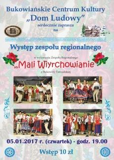 """Występ zespołu regionalnego """"Mali Wiyrchowianie"""""""