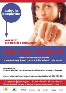 Jak się bronić? – warsztat pokazowy WenDo - samoobrony i asertywności dla kobiet i dziewcząt