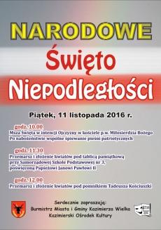 Święto Niepodległości w Kazimierzy Wielkiej