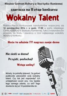 "Konkurs ""Wokalny Talent"" - II etap"