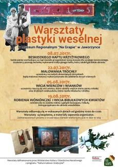 Plakat warsztatów