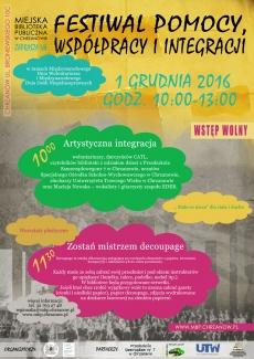 Festiwal Pomocy Współpracy i Integracji - 1 grudnia 2016