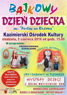 Bajkowy Dzień Dziecka w Kazimierskim Ośrodku Kultury