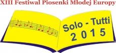 """Eliminacje wojewódzkie XIII Festiwalu Piosenki Młodej Europy """"SOLO – TUTTI"""" Bydgoszcz 2015"""