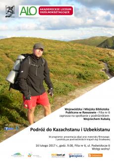 Podróż do Kazachstanu i Uzbekistanu - spotkanie z podróżnikiem  Wojciechem Kubalą