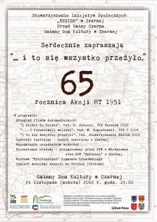 65 rocznica Akcji HT 1951 w Czarnej Górnej