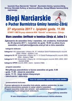 Biegi Narciarskie o Puchar Burmistrza Gminy Iwonicz-Zdrój