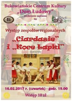 """Występ zespołów regionalnych: """"Ciardasie"""" i """"Koce Łapki"""""""
