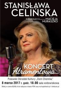 """Koncert Stanisławy Celińskiej """"Atramentowa"""" z zespołem Macieja Muraszko"""