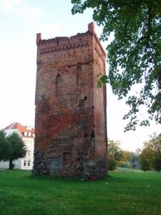 Wieża bramna dawnego pałacu biskupiego w Braniewie