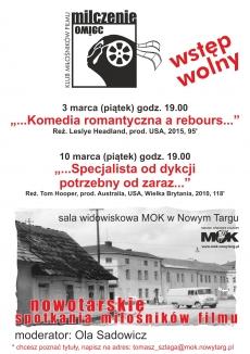"""Marcowe Nowotarskie Spotkania Miłośników Filmów """"Milczenie owiec"""""""
