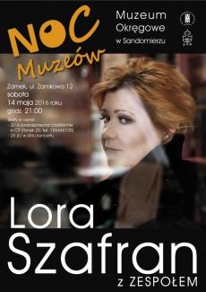 NOC MUZEÓW - koncert Lory  Szafran z zespołem