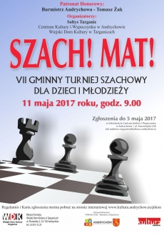 VII Gminny Turniej Szachowy dla dzieci i młodzieży SZACH! MAT!