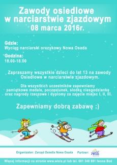 Zawody osiedlowe w narciarstwie zjazdowym