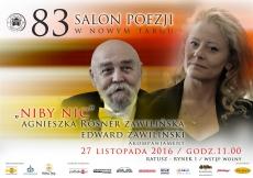 """""""Niby nic"""" Agnieszka Rösner Zawilińska i Edward Zawiliński na 83 Salonie Poezji w Nowym Targu"""