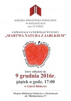 """Miejska Biblioteka Publiczna: Wystawa """"Martwa natura z jabłkiem"""""""