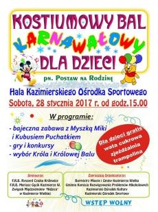 Bal Karnawałowy dla dzieci w Kazimierzy Wielkiej