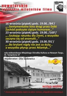 """Pokazy filmowe w ramach NSMF """"Milczenie Owiec"""" wrzesień"""