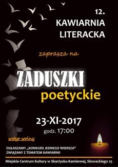 """KAWIARNIA LITERACKA ZAPRASZA... """"Zaduszki Poetyckie"""""""