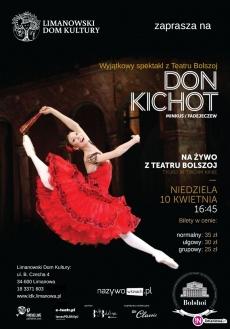 """""""DON KICHOT"""" - transmisja NA ŻYWO baletu z Moskwy 10 kwietnia w kinie Klaps!"""