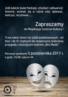 """Nabór do dziecięcego teatru """"Bez Maski"""" - spotkanie"""