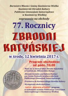 Obchody 77. Rocznicy Zbrodni Katyńskiej
