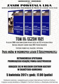 Retransmisja ze spotkania promującego książkę Pawła Gaszyńskiego