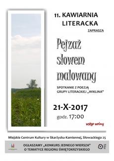 """KAWIARNIA LITERACKA ZAPRASZA... """"Pejzaż słowem malowany"""""""