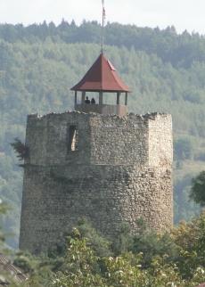Ruiny zamku w Czchowie