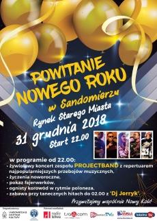 Sandomierz - Powitanie Nowego Roku w Sandomierzu