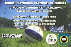 Turniej Siatkówki Plażowej Dziewcząt o Puchar Burmistrza Brzozowa