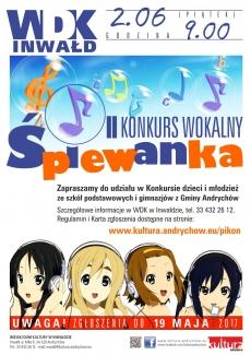 """II Konkurs Wokalny """"ŚPIEWANKA"""""""