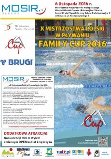 Plakat X Mistrzostw Polski w Pływaniu Family Cup 2016