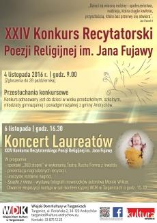 XXIV Konkurs Recytatorski Poezji Religijnej im. Jana Fujawy