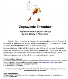 Zapowiedz Zawodów sportowo rekreacyjnych z okazji Święta Szkoły w Piekielniku