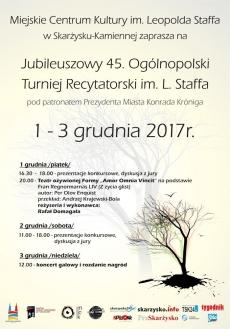 45. Jubileuszowy Ogólnopolski Turniej Recytatorski im. Leopolda Staffa