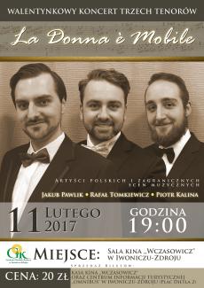 Walentynkowy Koncert Trzech Tenorów