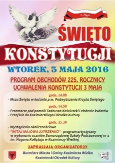 Kazimierskie obchody święta Konstytucji 3 Maja