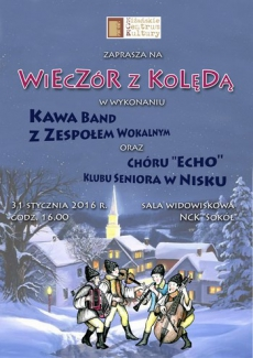 """WIECZÓR Z KOLĘDĄ w Niżańskim Centrum Kultury """"Sokół"""""""