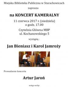 Koncert kameralny - Jan Bieniasz i Karol Jamroży