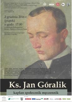 Promocja książki Łukasza Wiatra Ks. Jan Góralik kapłan społecznik męczennik