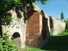 Fragment murów obronnych w Barlinku