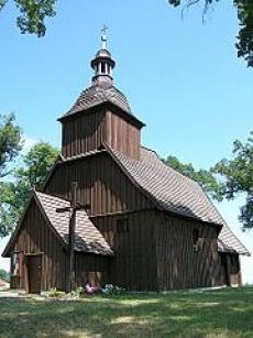 Drewniany kościół w miejscowości Miechowa