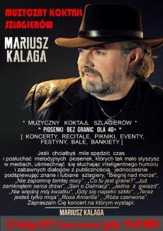23 lutego w WDK w Kielcach wystąpi śląska gwiazda – Mariusz Kalaga