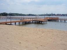 Plaża miejska nad jeziorem Drwęckim w Ostródzie