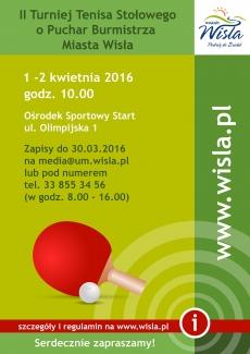 II Turniej Tenisa Stołowego o Puchar Burmistrza Miasta Wisła