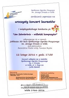 """Koncert laureatów konkursu """"Jan Sztwiertnia - wiślański kompozytor"""""""