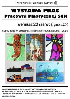 Wystawa prac plastycznych z Pracowni Plastycznej SCK
