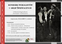 Konkurs Wokalistów i Grup Śpiewaczych