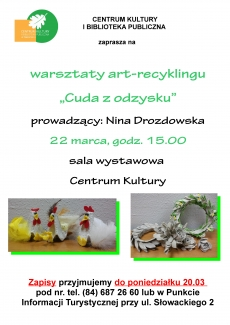 """""""Cuda z odzysku"""" warsztaty art-recyklingu"""